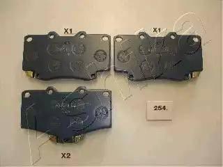 Ashika 50-02-254 - Kit de plaquettes de frein, frein à disque www.widencarpieces.com