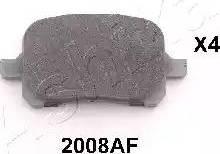 Ashika 50-02-2008 - Kit de plaquettes de frein, frein à disque www.widencarpieces.com