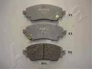 Ashika 50-02-201 - Kit de plaquettes de frein, frein à disque www.widencarpieces.com