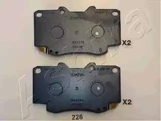 Ashika 50-02-226 - Kit de plaquettes de frein, frein à disque www.widencarpieces.com