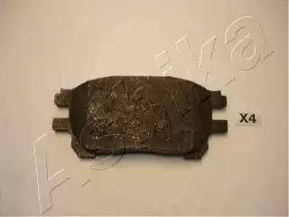 Ashika 50-02-271 - Kit de plaquettes de frein, frein à disque www.widencarpieces.com