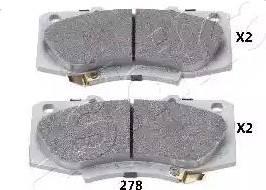 Ashika 50-02-278 - Kit de plaquettes de frein, frein à disque www.widencarpieces.com