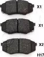 Ashika 50-0H-H17 - Kit de plaquettes de frein, frein à disque www.widencarpieces.com