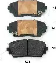 Ashika 50-0K-K23 - Kit de plaquettes de frein, frein à disque www.widencarpieces.com