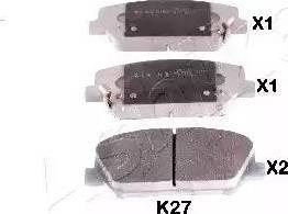 Ashika 50-0K-K27 - Kit de plaquettes de frein, frein à disque www.widencarpieces.com