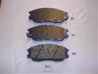 Ashika 50-0S-S01 - Kit de plaquettes de frein, frein à disque www.widencarpieces.com
