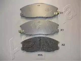Ashika 50-H0-005 - Kit de plaquettes de frein, frein à disque www.widencarpieces.com