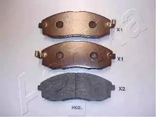 Ashika 50-H0-002 - Kit de plaquettes de frein, frein à disque www.widencarpieces.com