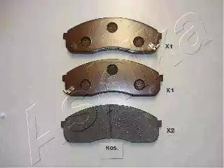 Ashika 50-K0-005 - Kit de plaquettes de frein, frein à disque www.widencarpieces.com