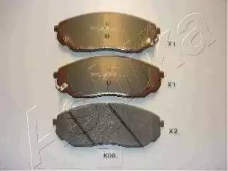 Ashika 50-K0-008 - Kit de plaquettes de frein, frein à disque www.widencarpieces.com