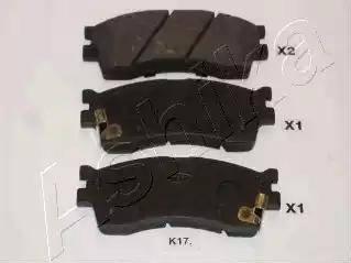 Ashika 50-K0-017 - Kit de plaquettes de frein, frein à disque www.widencarpieces.com