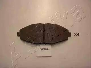 Ashika 50-W0-004 - Kit de plaquettes de frein, frein à disque www.widencarpieces.com