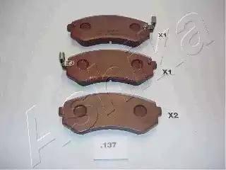 Ashika 51-01-137 - Kit de plaquettes de frein, frein à disque www.widencarpieces.com