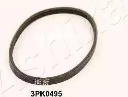 Ashika 1123PK495 - Courroie trapézoïdale à nervures www.widencarpieces.com