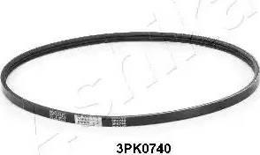 Ashika 1123PK740 - Courroie trapézoïdale à nervures www.widencarpieces.com