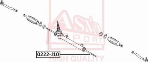 ASVA 0222-J10 - Rotule de direction intérieure, barre de connexion www.widencarpieces.com