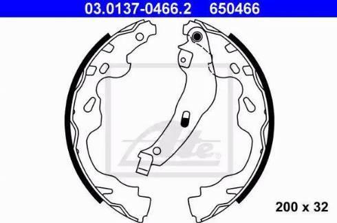 ATE 03.0137-0466.2 - Jeu de freins, freins à tambour www.widencarpieces.com