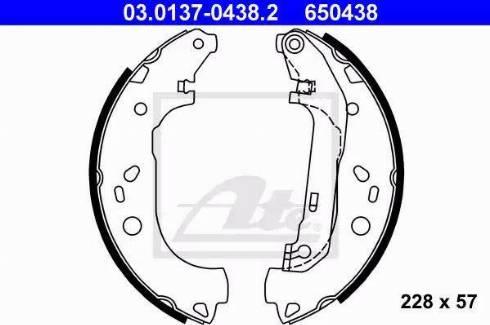 ATE 03.0137-0438.2 - Jeu de freins, freins à tambour www.widencarpieces.com