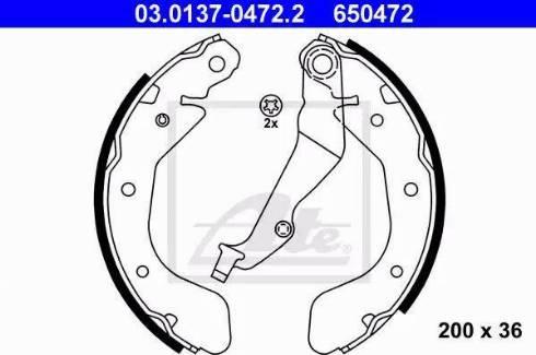 ATE 03.0137-0472.2 - Jeu de freins, freins à tambour www.widencarpieces.com
