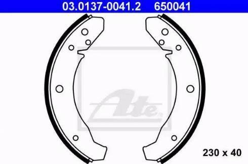 ATE 03.0137-0041.2 - Jeu de freins, freins à tambour www.widencarpieces.com