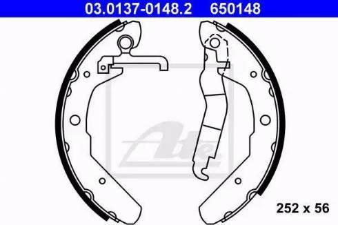 ATE 03.0137-0148.2 - Jeu de freins, freins à tambour www.widencarpieces.com