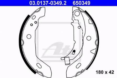 ATE 03.0137-0349.2 - Jeu de freins, freins à tambour www.widencarpieces.com