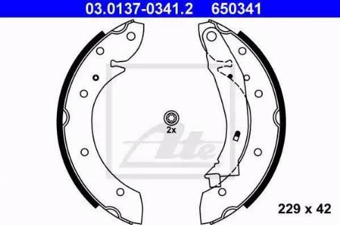 ATE 03.0137-0341.2 - Jeu de freins, freins à tambour www.widencarpieces.com