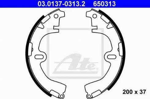 ATE 03.0137-0313.2 - Jeu de freins, freins à tambour www.widencarpieces.com
