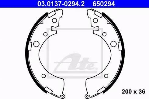 ATE 03.0137-0294.2 - Jeu de freins, freins à tambour www.widencarpieces.com