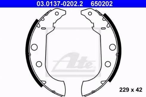 ATE 03.0137-0202.2 - Jeu de freins, freins à tambour www.widencarpieces.com