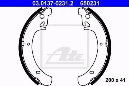 ATE 03.0137-0231.2 - Jeu de freins, freins à tambour www.widencarpieces.com