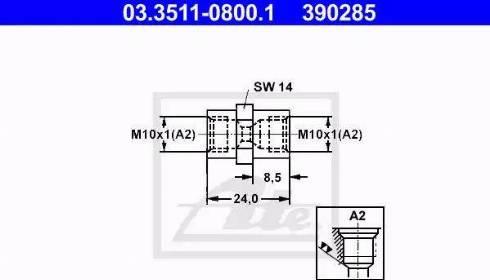 ATE 03351108001 - Adaptateur, conduite de frein www.widencarpieces.com
