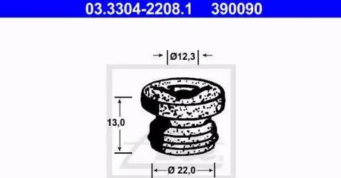 ATE 03330422081 - Bouchon, filtre déshydratant du liquide de frein www.widencarpieces.com