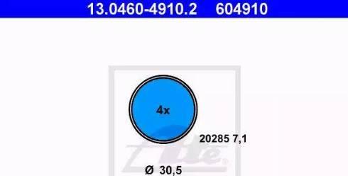 ATE 13.0460-4910.2 - Kit de plaquettes de frein, frein à disque www.widencarpieces.com
