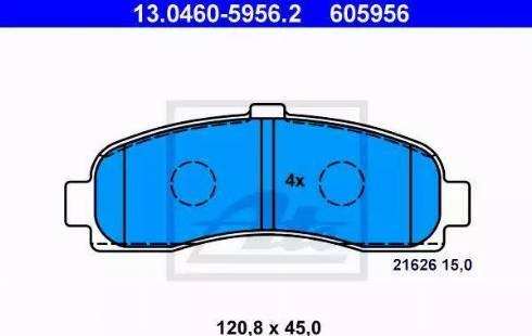 ATE 13.0460-5956.2 - Kit de plaquettes de frein, frein à disque www.widencarpieces.com