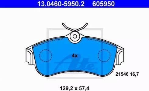 ATE 13.0460-5950.2 - Kit de plaquettes de frein, frein à disque www.widencarpieces.com