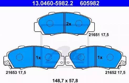 ATE 13.0460-5982.2 - Kit de plaquettes de frein, frein à disque www.widencarpieces.com