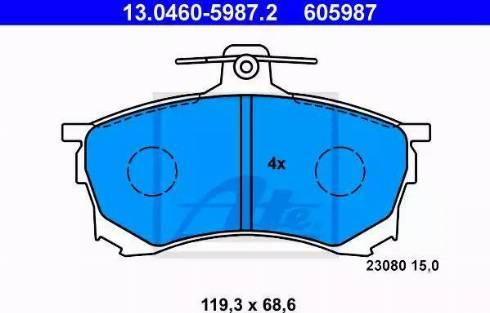 ATE 13.0460-5987.2 - Kit de plaquettes de frein, frein à disque www.widencarpieces.com