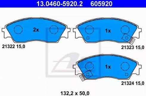 ATE 13.0460-5920.2 - Kit de plaquettes de frein, frein à disque www.widencarpieces.com