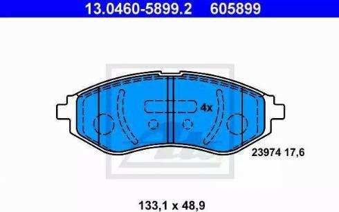 ATE 13.0460-5899.2 - Kit de plaquettes de frein, frein à disque www.widencarpieces.com