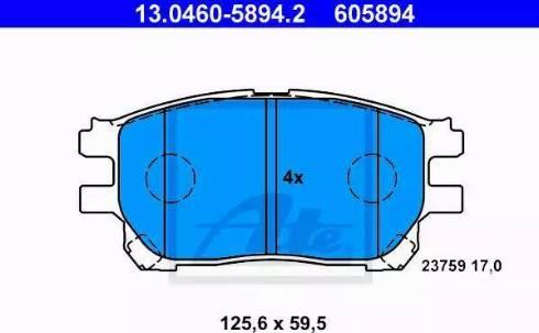 ATE 13.0460-5894.2 - Kit de plaquettes de frein, frein à disque www.widencarpieces.com
