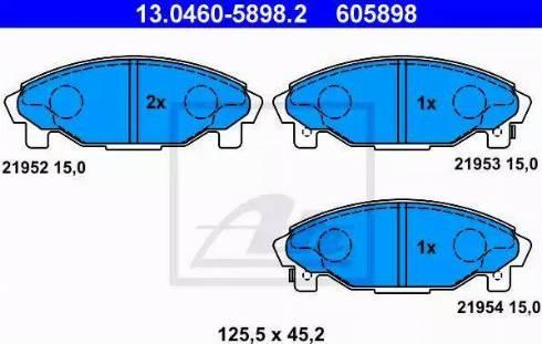 ATE 13.0460-5898.2 - Kit de plaquettes de frein, frein à disque www.widencarpieces.com