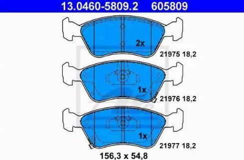 ATE 13.0460-5809.2 - Kit de plaquettes de frein, frein à disque www.widencarpieces.com