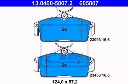 ATE 13.0460-5807.2 - Kit de plaquettes de frein, frein à disque www.widencarpieces.com