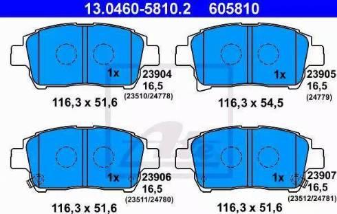 ATE 13.0460-5810.2 - Kit de plaquettes de frein, frein à disque www.widencarpieces.com