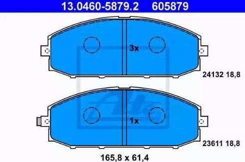 ATE 13.0460-5879.2 - Kit de plaquettes de frein, frein à disque www.widencarpieces.com