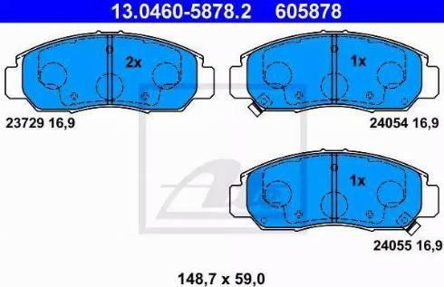 ATE 13.0460-5878.2 - Kit de plaquettes de frein, frein à disque www.widencarpieces.com