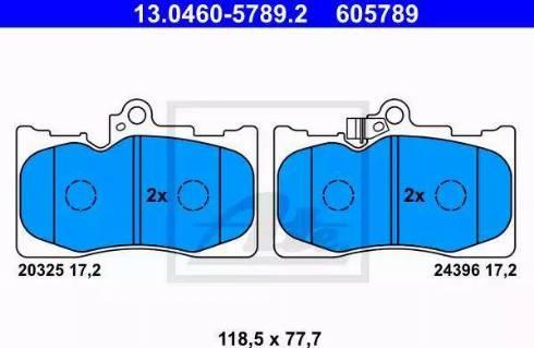 ATE 13.0460-5789.2 - Kit de plaquettes de frein, frein à disque www.widencarpieces.com