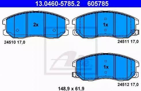 ATE 13.0460-5785.2 - Kit de plaquettes de frein, frein à disque www.widencarpieces.com