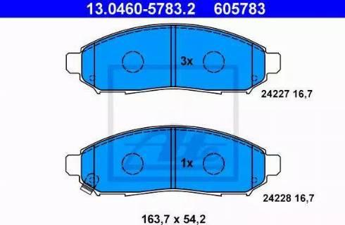 ATE 13.0460-5783.2 - Kit de plaquettes de frein, frein à disque www.widencarpieces.com
